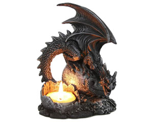 SKULLS dragon lair 766-7198 LIGHT HOLDER