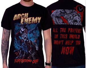 ARCH ENEMY bloodstained cross TS
