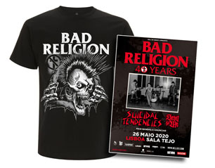BAD RELIGION bust out + bilhete lisboa PACK