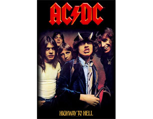 AC/DC highway to hell group  HQ TEXTILE POSTER