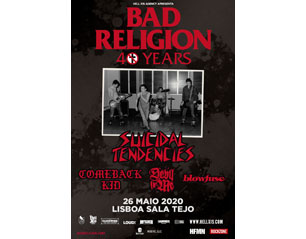 BAD RELIGION lisbon TICKET