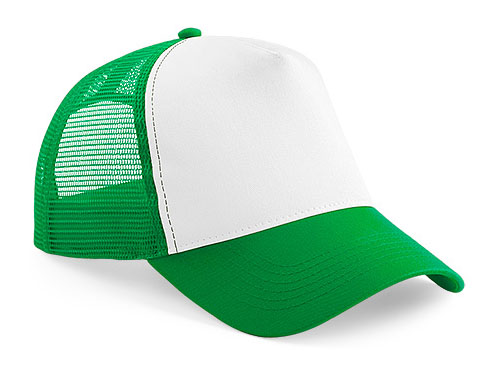 CAP pure green/white trucker CAP