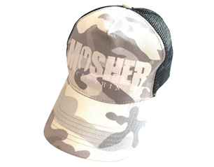 MOSHER snow camo trucker CAP