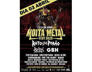 MOITA METAL FEST dia 3 abril TICKET