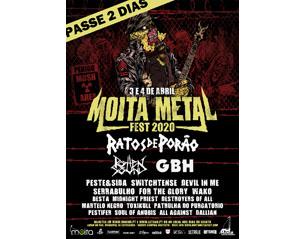 MOITA METAL FEST passe 2 dias TICKET