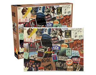 AC/DC album cover collage 1000 piece PUZZLE