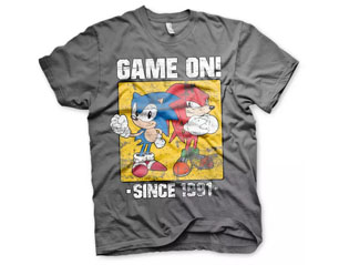 SONIC game on since 1991 DARK GREY TS