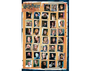HARRY POTTER characters POSTER