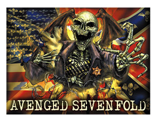 AVENGED SEVENFOLD confederate TEXTILE POSTER
