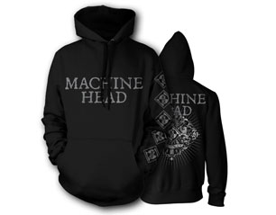 MACHINE HEAD lion crest rays HOODIE