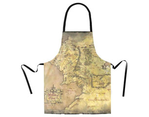 LORD OF THE RINGS map APRON