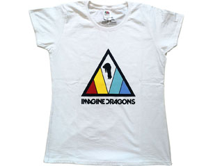 IMAGINE DRAGONS triangle logo WHT SKINNY TS