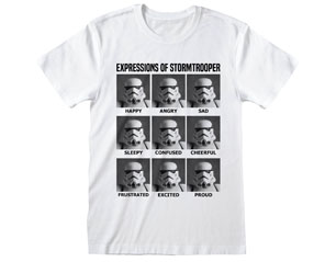STAR WARS expressions of stormtrooper WHT TS