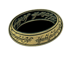 LORD OF THE RINGS one ring METAL PIN