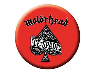 MOTORHEAD ace red BUTTON BADGE