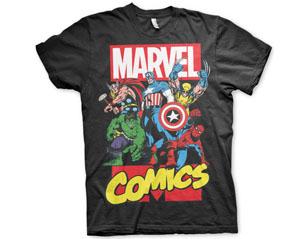 MARVEL COMICS heroes BLK TS