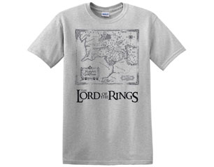LORD OF THE RINGS map grey TS