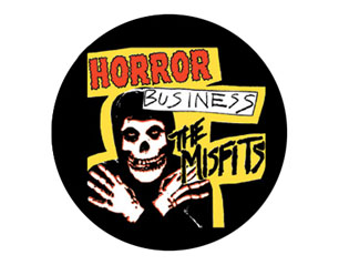 MISFITS horror business BUTTON BADGE