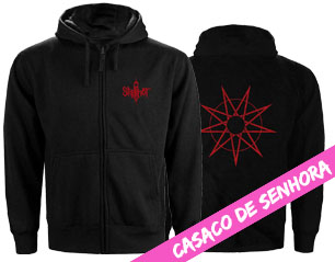 SLIPKNOT 9 point star LADIES ZIPPER