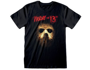 FRIDAY THE 13TH mask and logo/blk TS
