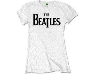 BEATLES drop t logo skinny WHITE TS