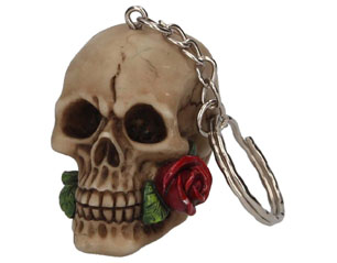SKULLS rose from the dead KEYCHAIN
