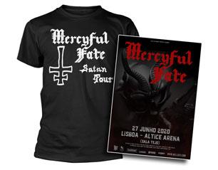 MERCYFUL FATE satan tour + bilhete lisboa PACK
