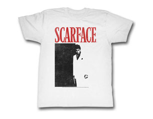 SCARFACE black and red WHT TS