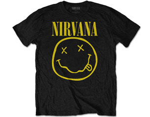 NIRVANA smiley logo front print only TS