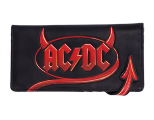 AC/DC horns logo embossed lady purse WALLET
