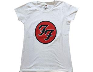 FOO FIGHTERS ff logo WHITE SKINNY TS
