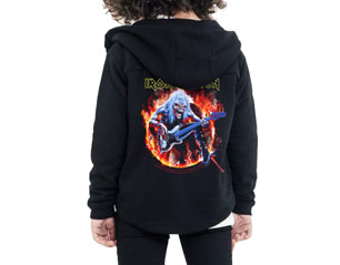 IRON MAIDEN fear live flames YOUTH ZIPPER